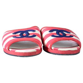 Chanel-Chanel sandals-White,Red,Blue