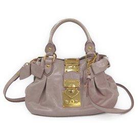 9042d33cd74 Miu Miu-Miu Miu Pink Leather Bow Handbag-Pink ...