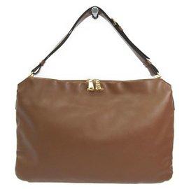 6f283b5554b Miu Miu-Miu Miu Brown Leather Shoulder Bag-Brown ...