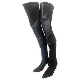 713f83e85 Chanel-Thigh high boots-Black ...