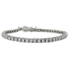 inconnue-Bracelet ligne diamants en or blanc, 3,62 carats.-Autre