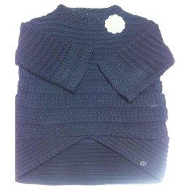Chanel-pull marine Chanel-Bleu Marine