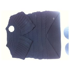 Chanel-Chanel marine sweater-Navy blue