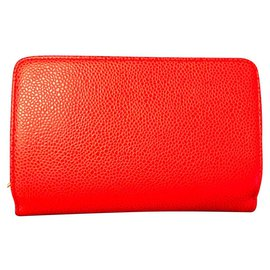 Chanel-Wallets-Coral