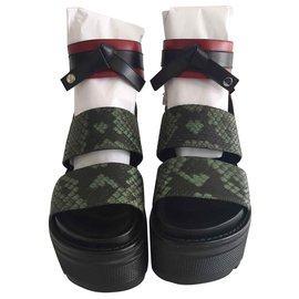 Louis Vuitton-Sandales Platform-Vert