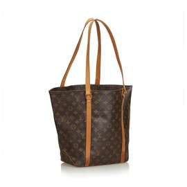Louis Vuitton-Louis Vuitton Brown Monogram Sac Shopping 48-Marron