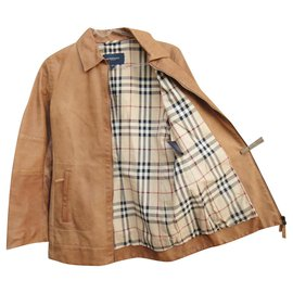 Burberry-Burberry leather buffalo jacket-Caramel