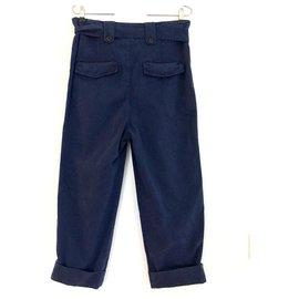 Isabel Marant Etoile-Pantalon Ozzy-Bleu Marine