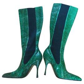 Dolce & Gabbana-Boots-Green
