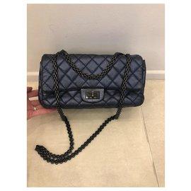 Chanel-Reissue 2.55-Blue,Navy blue,Dark blue