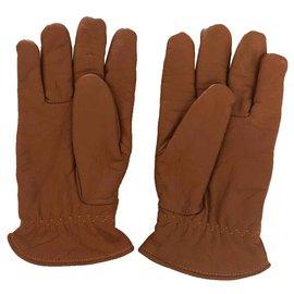 Autre Marque-atlas for men - paire de gants en cuir gold  doublé T.9-Caramel