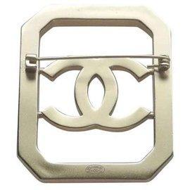Chanel-Chanel broche métal doré et strass, Collection 2018 Superbe-Doré