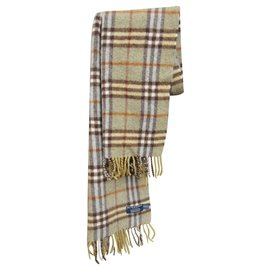 Burberry-Burberry scarf in pure cashmere-Green