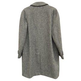 Burberry-manteau Burberry en Harris Tweed-Gris