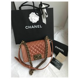 Chanel-Never worn w/card Small Boy Flap Bag-Other