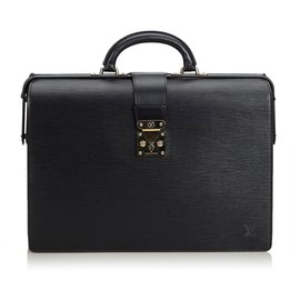 Louis Vuitton-Serviette Fermi Epi Noir De Louis Vuitton-Noir