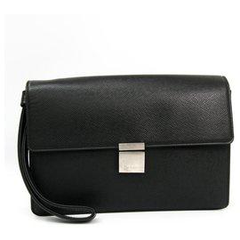Louis Vuitton-Louis Vuitton Black Taiga Selenga-Noir