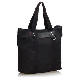 Gucci-Sac cabas en nylon noir Gucci-Noir