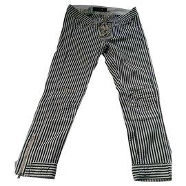 Isabel Marant Etoile-Pantalons, leggings-Noir,Blanc