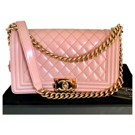 Chanel-Gorgeous and very rare Old Medium Boy from 2016 Spring-Summer Pre- Collection (16P)-Pink