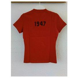 Dior-T-shirt CHRISTIAN DIOR en coton-Rouge