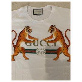Gucci-Tee-shirt à imprimé Hucci-Blanc
