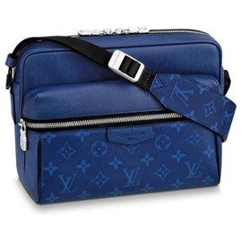 Louis Vuitton-Messenger Extérieur Louis Vuitton Taigarama-Bleu