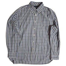 Tommy Hilfiger-chemises-Blanc,Bleu,Multicolore