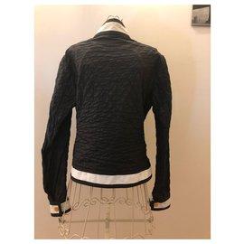 Moncler-Moncler Quilted Spring Jacket-Dark blue
