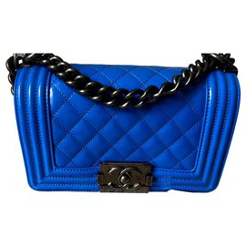 Chanel-Boy Bag Small Size-Blue