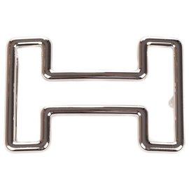 """Hermès-Fivela de cinto masculino Hermes """"Tonight"""" em paládio prata, Nova Condição!-Prata"""