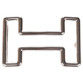 "Hermès-Men's belt buckle Hermès ""Tonight"" in palladium silver, new condition!-Silvery"