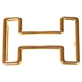 """Hermès-Boucle de ceinture Hermès """"Tonight"""" en acier doré état neuf !-Doré"""