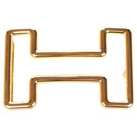 """Hermès-Fivela de cinto Hermes """"Tonight"""" em aço novo banhado a ouro!-Dourado"""
