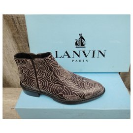 Lanvin-Bottines-Marron