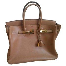 Hermès-Birkin 35-Caramel