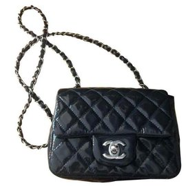 Chanel-TIMELESS/CLASSIQUE LEATHER CROSSBODY BAG-Navy blue