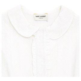 Saint Laurent-WHITE LACE FR40/42-Blanc