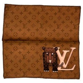 Louis Vuitton-poche carrée-Marron