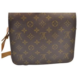 Louis Vuitton-Louis Vuitton Cartouchiere MM26-Brown