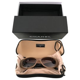 Chanel-CHANEL sunglasses-Beige