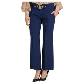 Gucci-Pantalon Gucci nouveau-Bleu