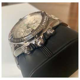 Breitling-Chronomat Evolution-Silvery,White
