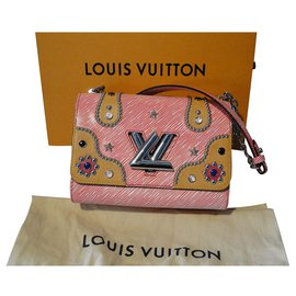 Louis Vuitton-MM Leather Twist Bag limited edition Western Limited Edition-White,Red