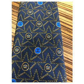 Chanel-Laço do monograma-Azul escuro