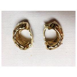 Yves Saint Laurent-Boucles d'oreilles à clips-Doré