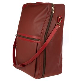"Louis Vuitton-Louis Vuitton limited edition ""America's Cup"" suitcase in soft red leather in good condition!-Red"