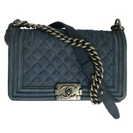 Chanel-Rare Boy Medium Denim Bag-Blue