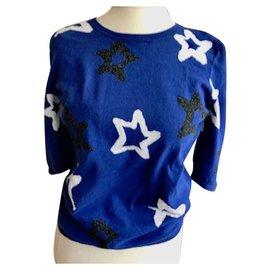 pretty nice 76e68 c59c9 Ziemlich blauer Pullover mit Sternen - 38 fr