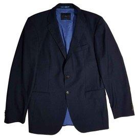Tommy Hilfiger-Vestes Blazers-Bleu Marine